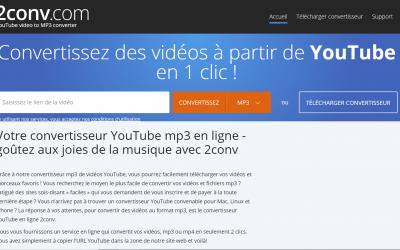 2Conv, YouTube en mp3 convertisseur et téléchargeur