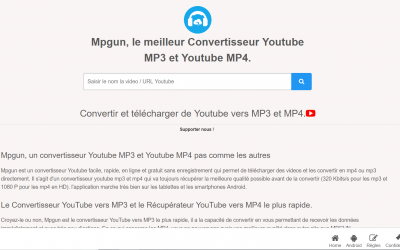 Mpgun, un convertisseur Youtube MP3 et MP4