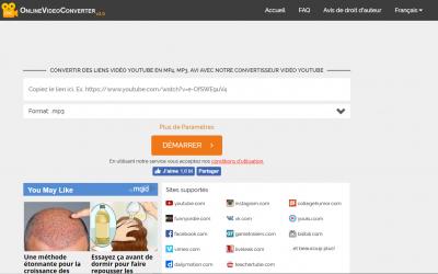 OnlineVideoConverter, Convertir en MP3, MP4, AVI
