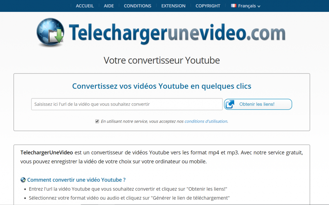TelechargerUneVideo, Convertisseur Youtube Vers Mp4 Et Mp3