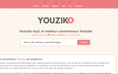 Youzik, Convertisseur Youtube mp3
